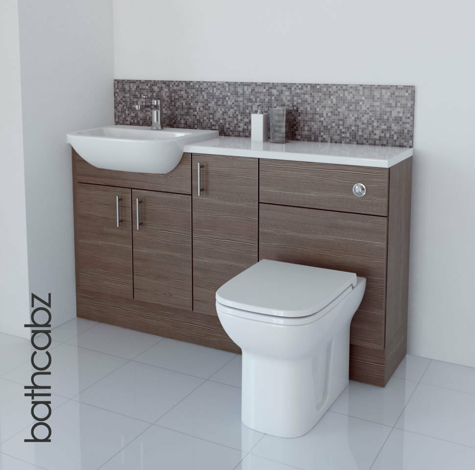 Popular Utopia Timber Golden Oak Fitted Bathroom Furniture  Ream