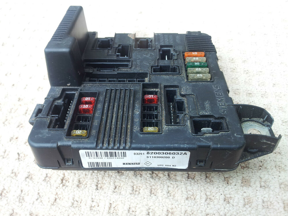 Renault Megane 2003 Fuse Box Location : Renault scenic dci fuse box  a ebay