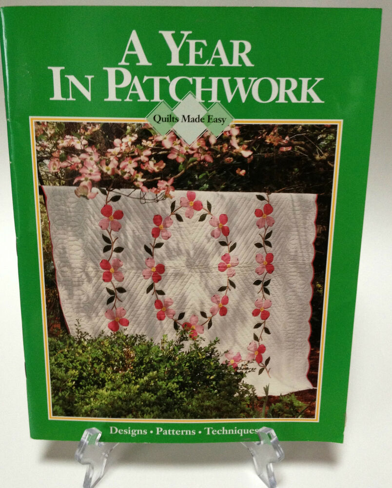 Patchwork Book Cover Pattern : A year in patchwork quilt book designs patterns techniques