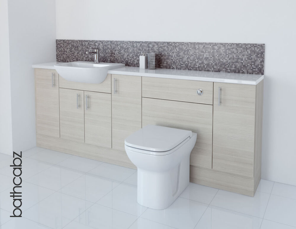 Elegant WHITE BATHROOM FITTED FURNITURE 2000MM  EBay