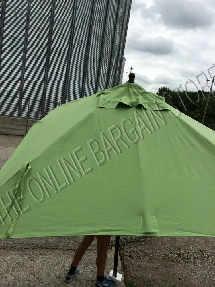 Pottery Barn Rectangular Market Patio Umbrella Eucalyptus
