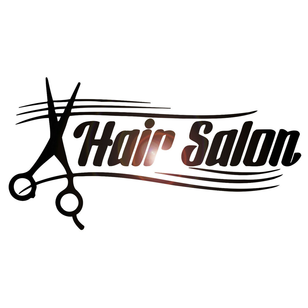 Wall stickers vinyl decal hair spa salon sign scissors for Salon interieur