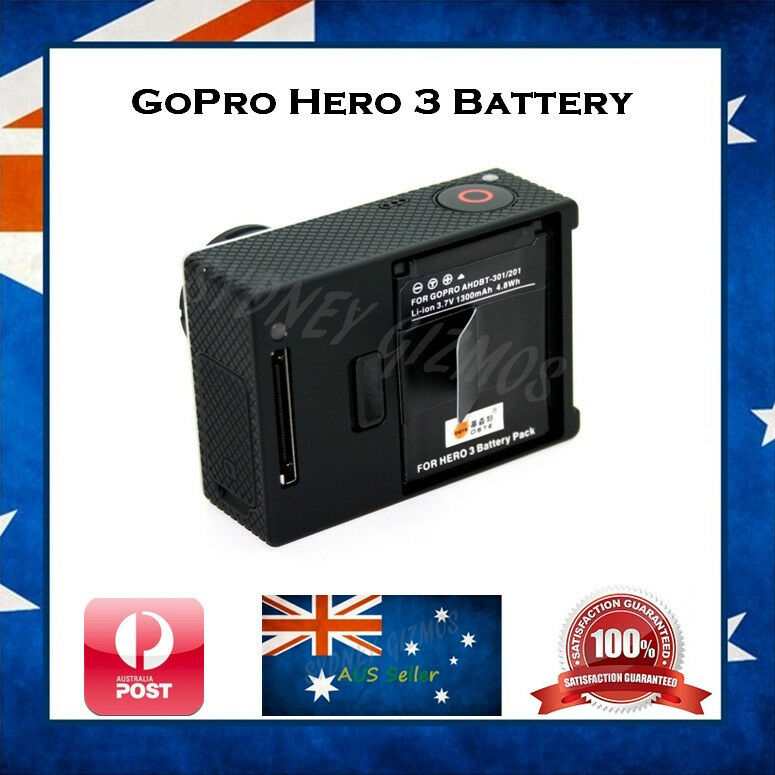 gopro hero 3 3 compatible battery 40 longer lasting than oem go pro hero3 ebay. Black Bedroom Furniture Sets. Home Design Ideas