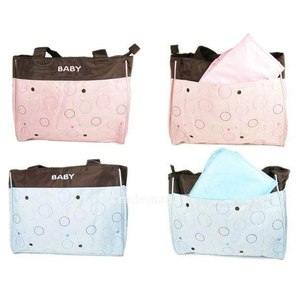 new fashion mommy bag nappy tote messenger changing pad baby diaper bag ebay. Black Bedroom Furniture Sets. Home Design Ideas