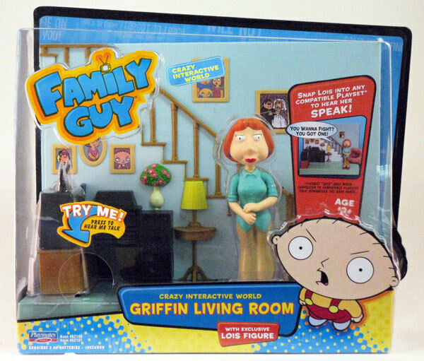 Family Guy Peters Toy Design : Family guy interactive griffin living room lois figure