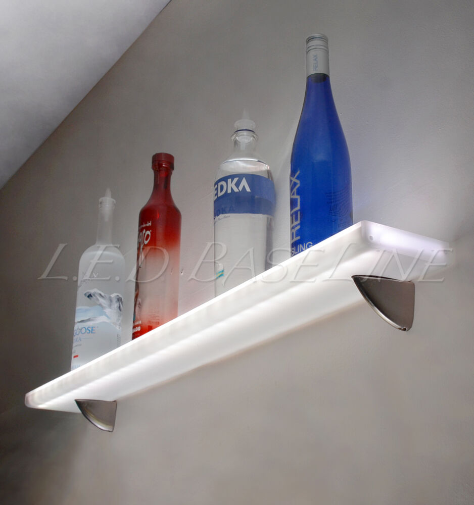 68 Floating Retail Display Wall Shelf With Led Color