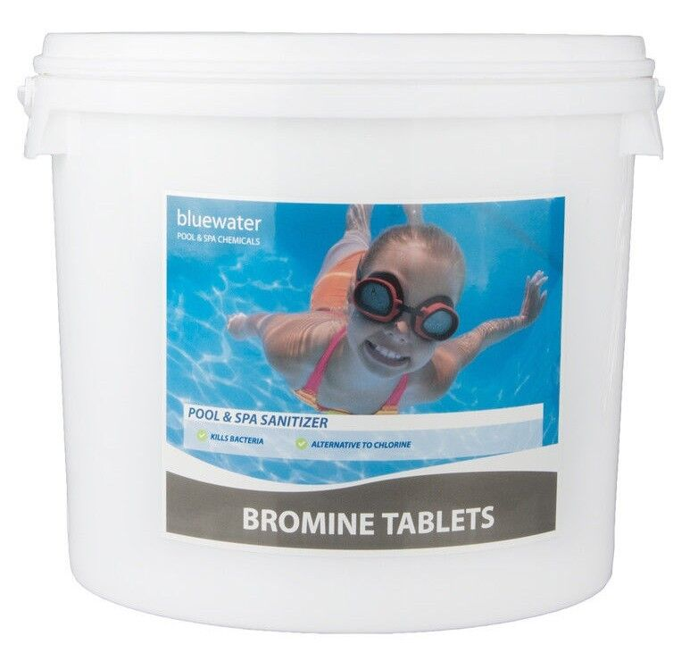 5kg bromine tablets swimming pool spa chemicals ebay for Chlorine or bromine for swimming pools