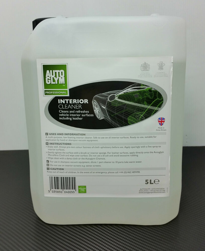 autoglym interior shampoo interior cleaner 5 litre fast dispatch ebay. Black Bedroom Furniture Sets. Home Design Ideas