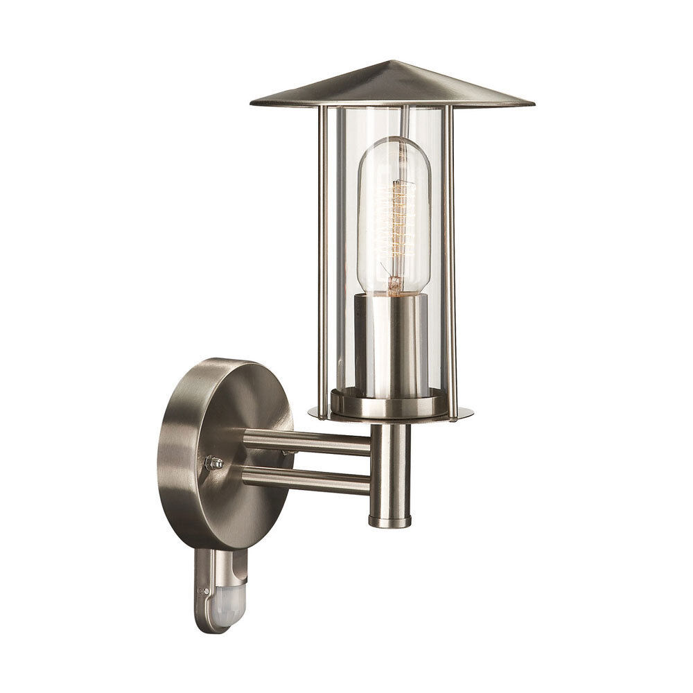 Outdoor Wall Light With PIR Sensor In Stainless Steel By Philips IP44 - Houston eBay