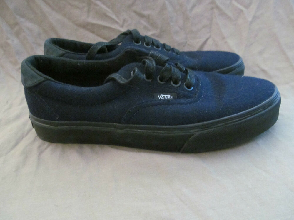 new authentic vans classic navy blue wool mens 7 womens 8