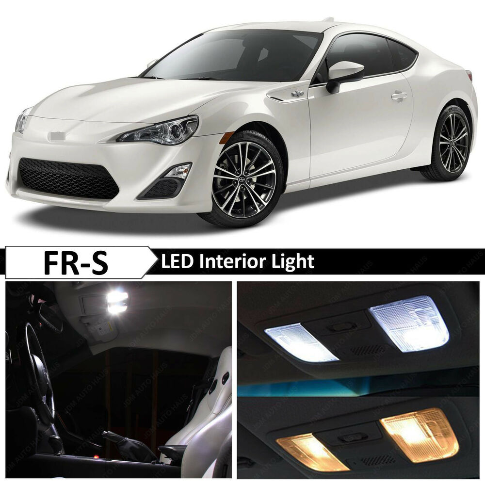 6x white interior led lights package kit for 2013 2017 scion fr s frs 86 ebay for Scion frs interior accessories