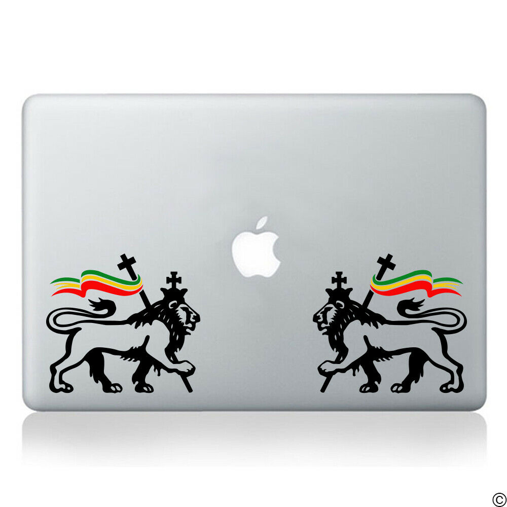 Details about lion of judah pair with rasta flag vinyl decal reggae marley car sticker k157