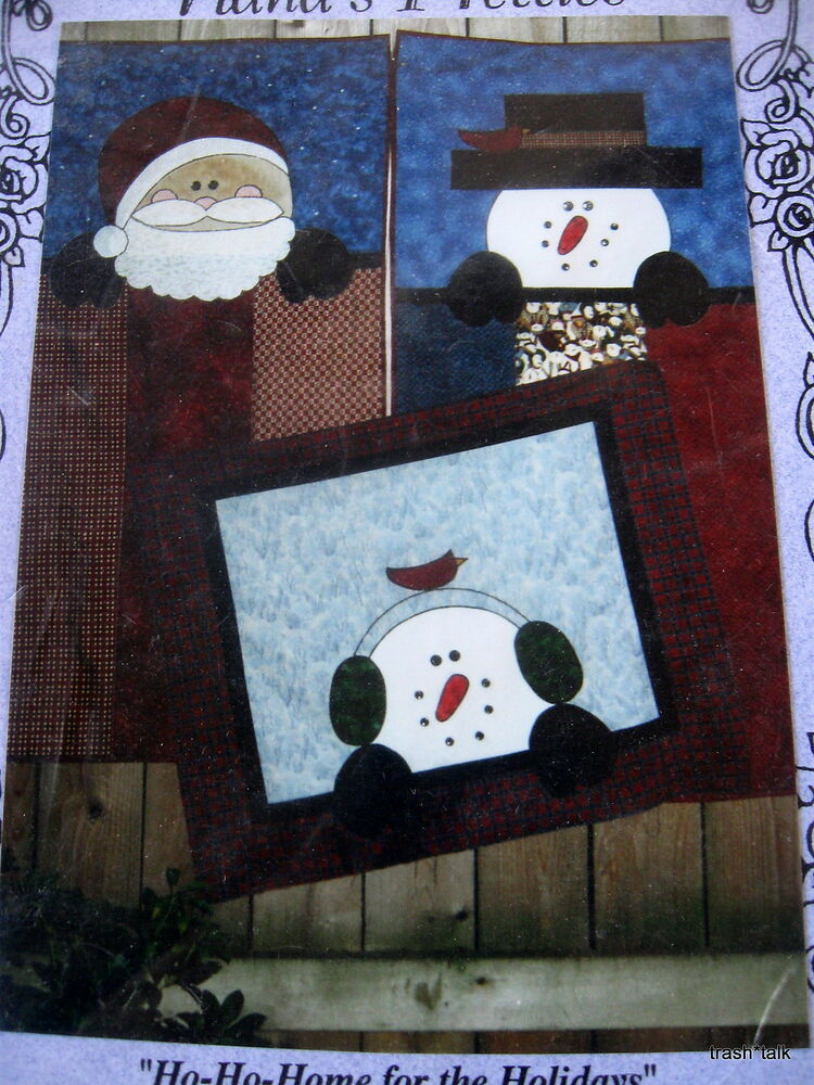 Nanas Pretties Christmas Wallhanging Quilt Pattern Banner