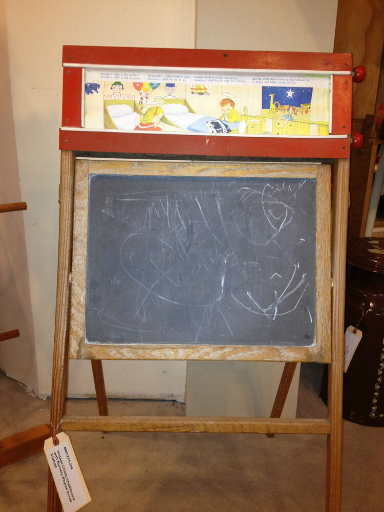 Vintage Child S Easel With Quot Story Book Quot Scroll