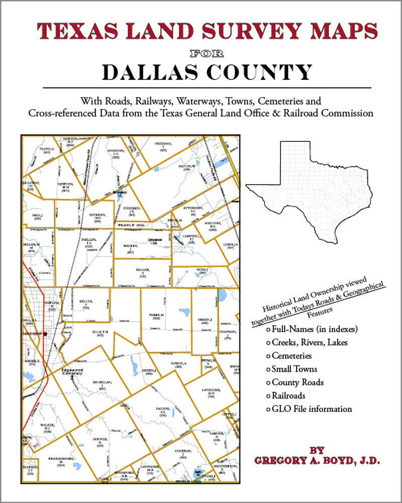 Dallas county texas land survey maps genealogy history for Free land in texas