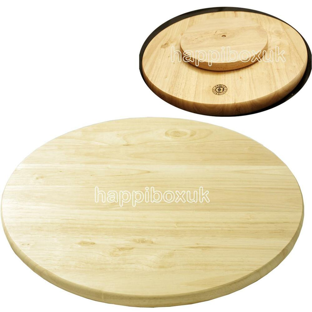 Solid Wood Wooden Lazy Susan Serving Cheese Board Rotating