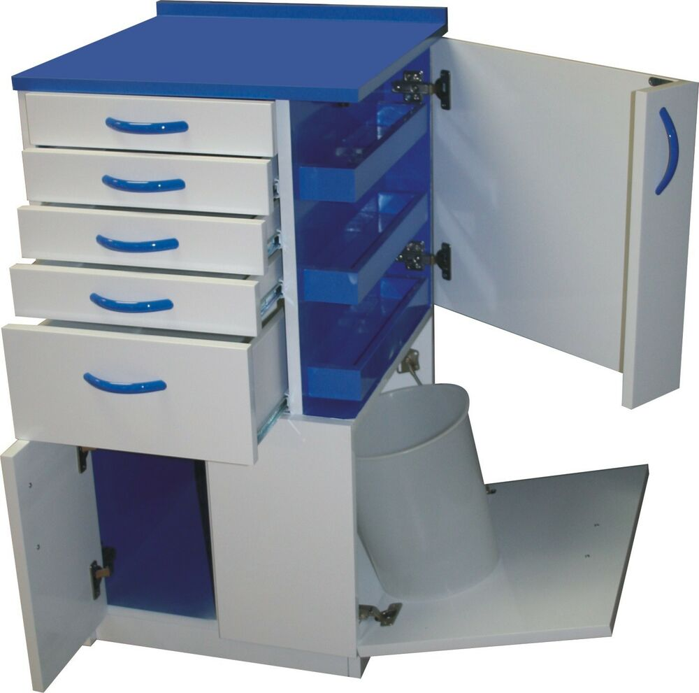 dental medical lab mobile storage cabinet cart multifunctional drawers w wheels ebay. Black Bedroom Furniture Sets. Home Design Ideas