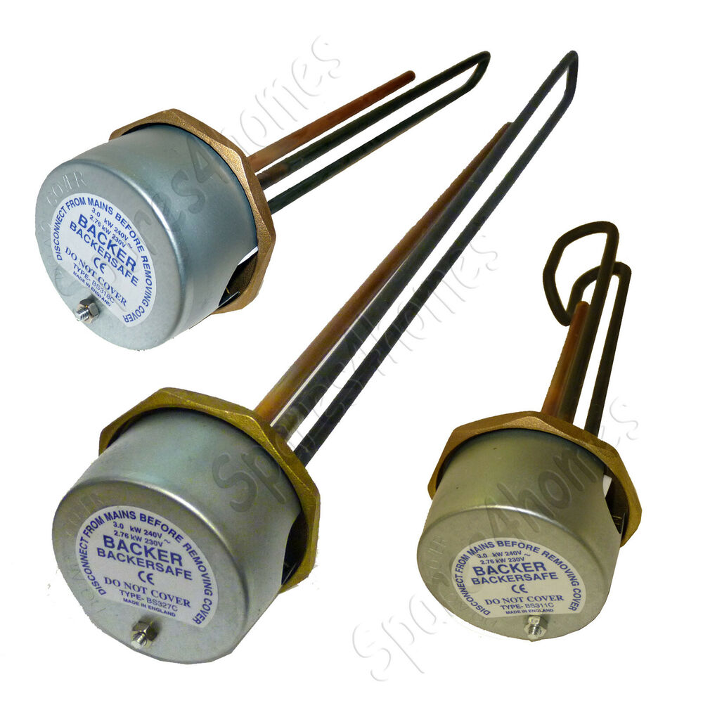 Wiring Diagram For Backer Immersion Heater : Genuine backer immersion heater hot water element incoloy