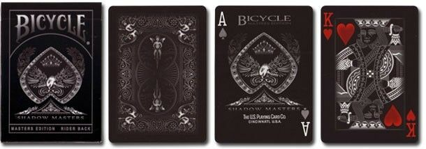 Bicycle Shadow Masters BLACK Deck of Playing Cards by ...