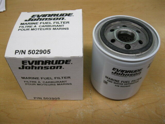 502905 evinrude johnson marine fuel filter boat parts etec ... fuel fuel filter