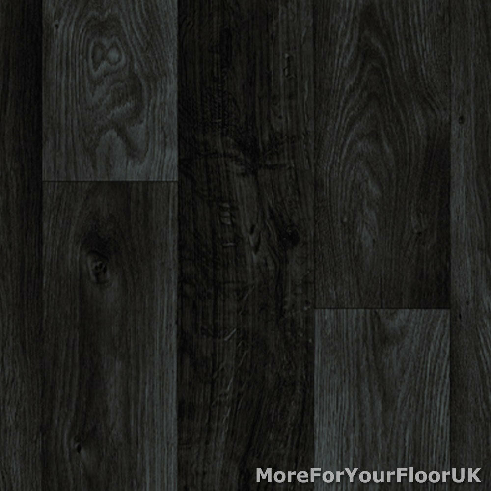 Details About Black Dark Grey Wood Plank Vinyl Flooring Slip Resistant Lino 4m Cushion Floor