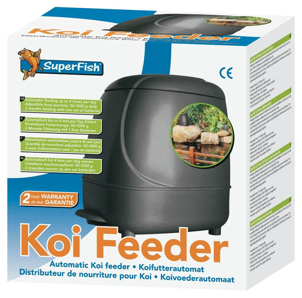 Superfish automatic koi fish feeder pond feeder holiday for Koi fish feeder