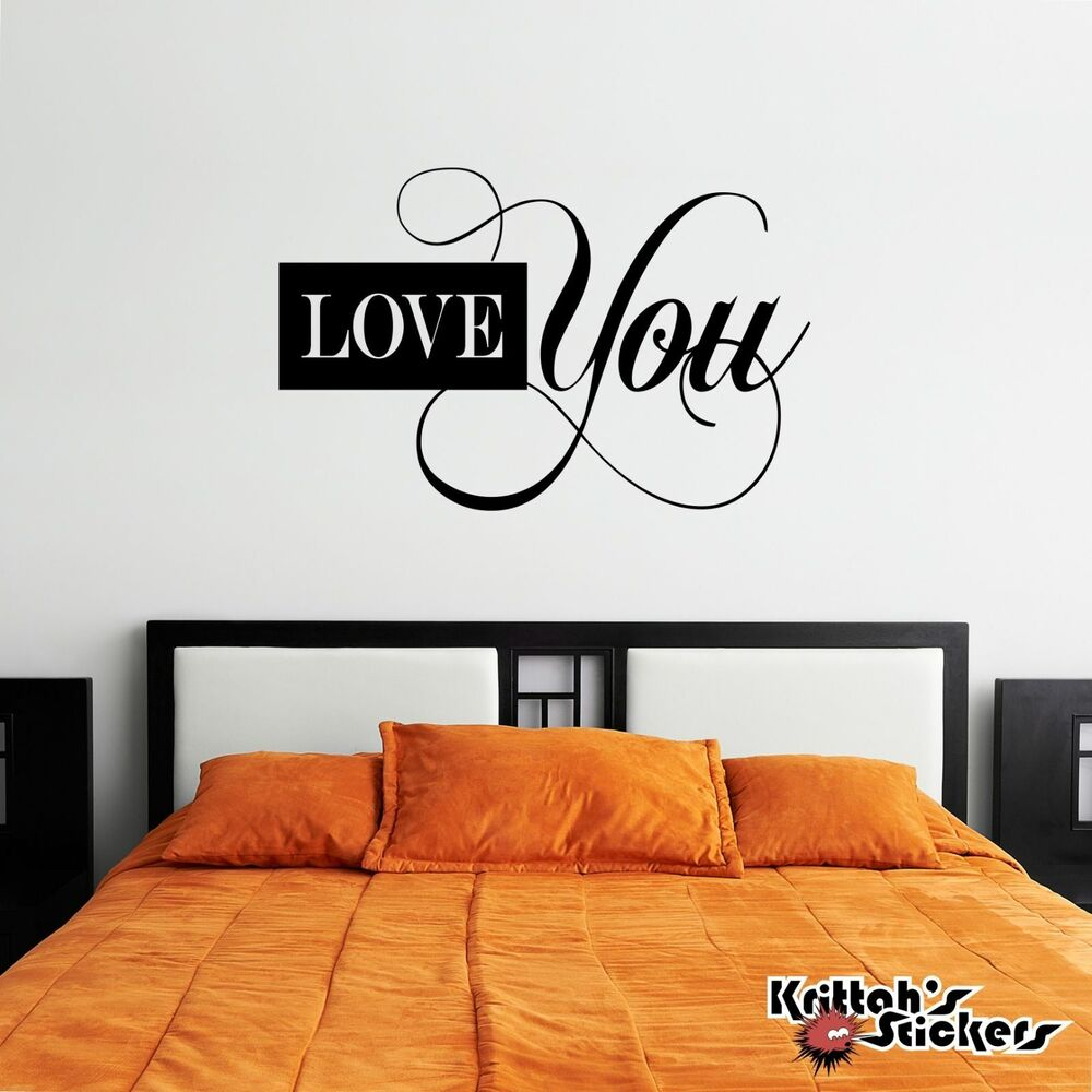 Vinyl Wall Art Love Quotes : Love you vinyl wall decal quote home decor word art