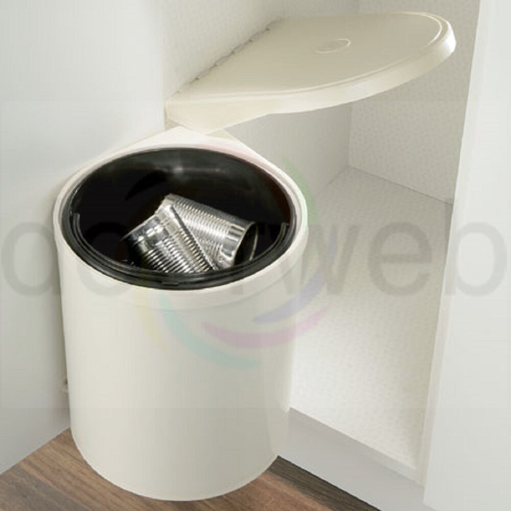 Automatic Waste Bin Kitchen Cupboard Storage Under Sink 10L Cream