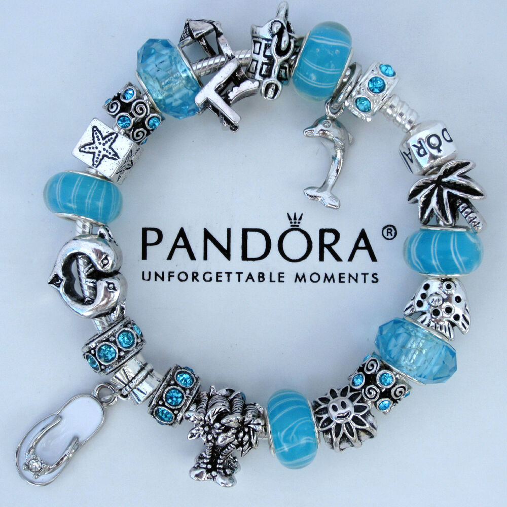 Dolphin Charm Bracelet: Authentic Pandora Bracelet Beach Vacation Cruise Dolphin
