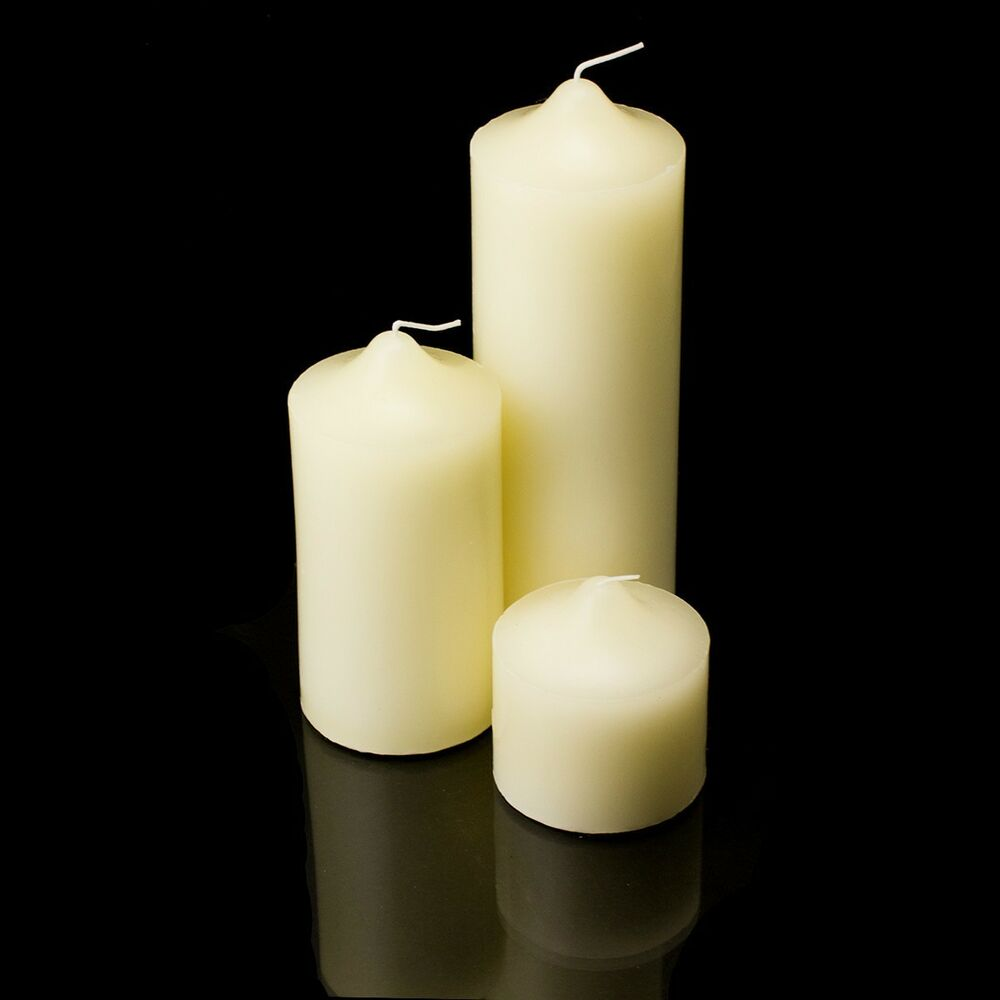 New pillar wax candles candle unscented weddings receptions events home decor ebay Home decor candlesticks