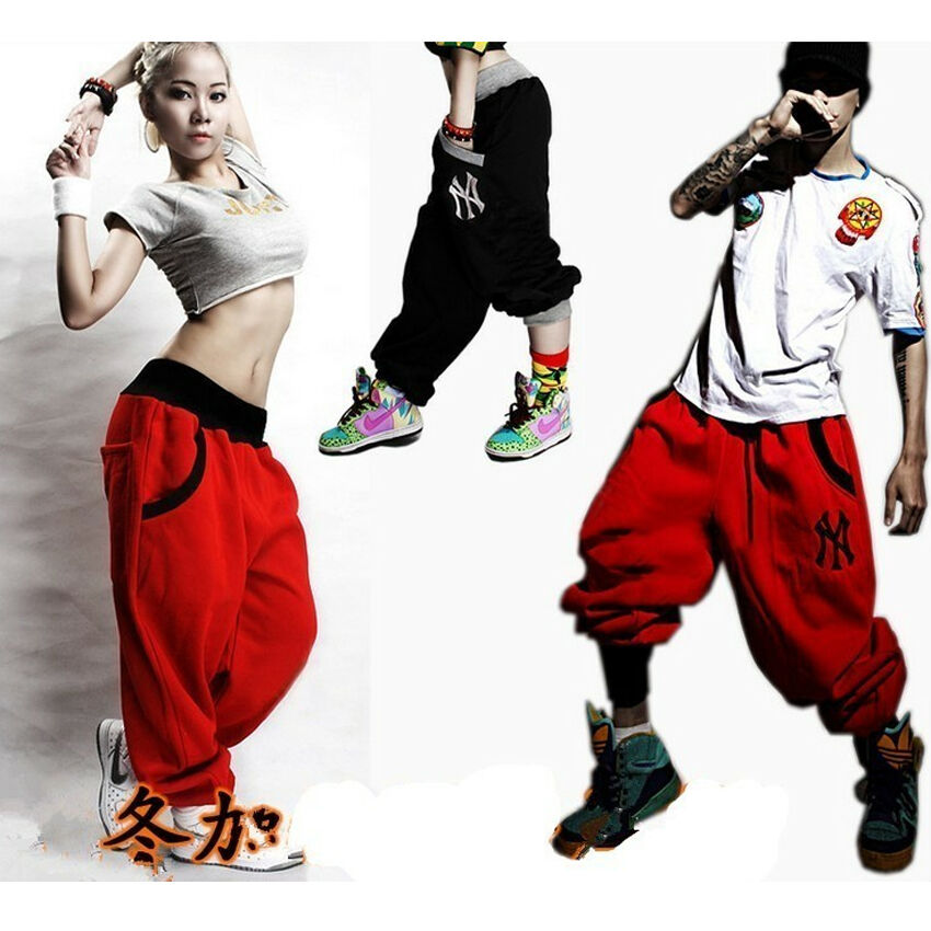 Mens Womens Casual Harem Baggy Hip Hop Dance Sport Sweat Pants Trousers Slacks Ebay