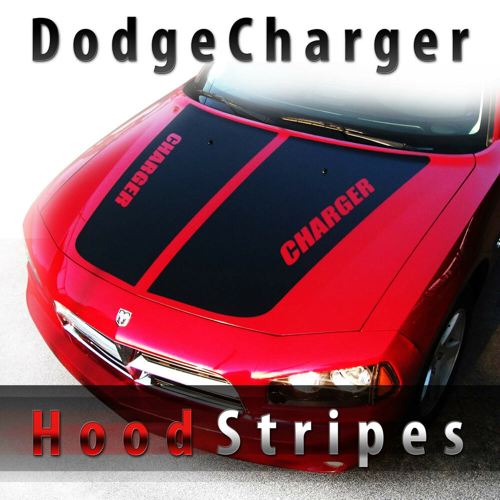 dodge charger hood stripes decal kit pre cut 2006 2007. Black Bedroom Furniture Sets. Home Design Ideas