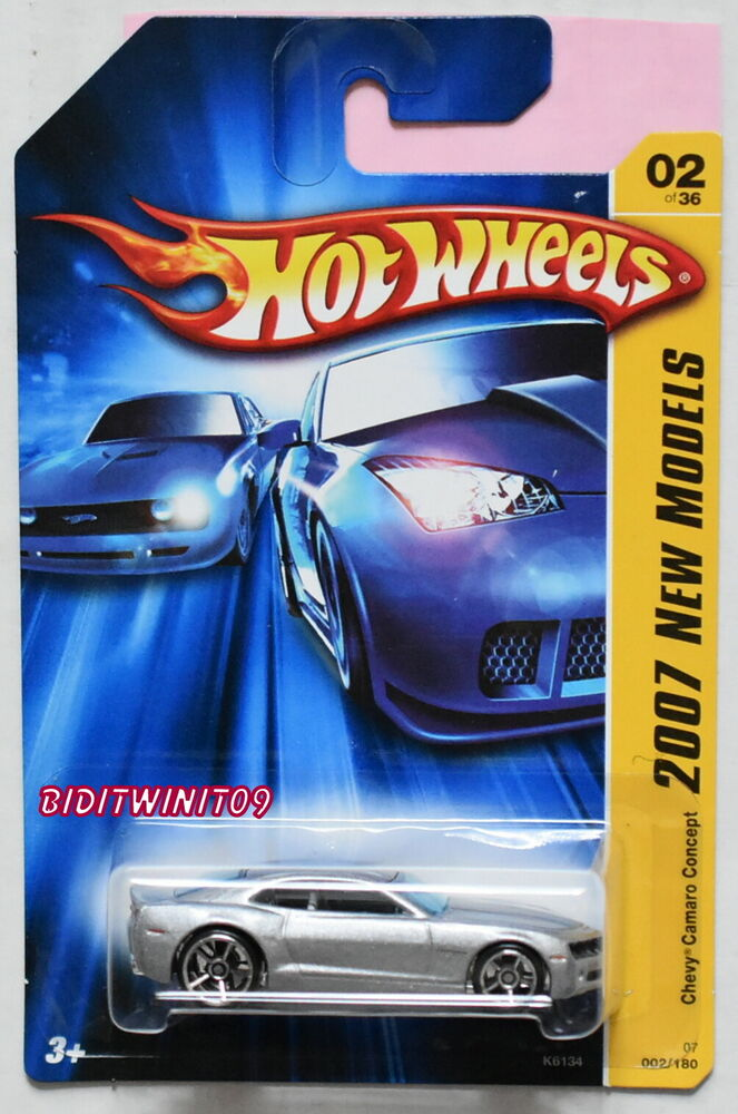 HOT WHEELS 2007 NEW MODELS CHEVY CAMARO CONCEPT SILVER