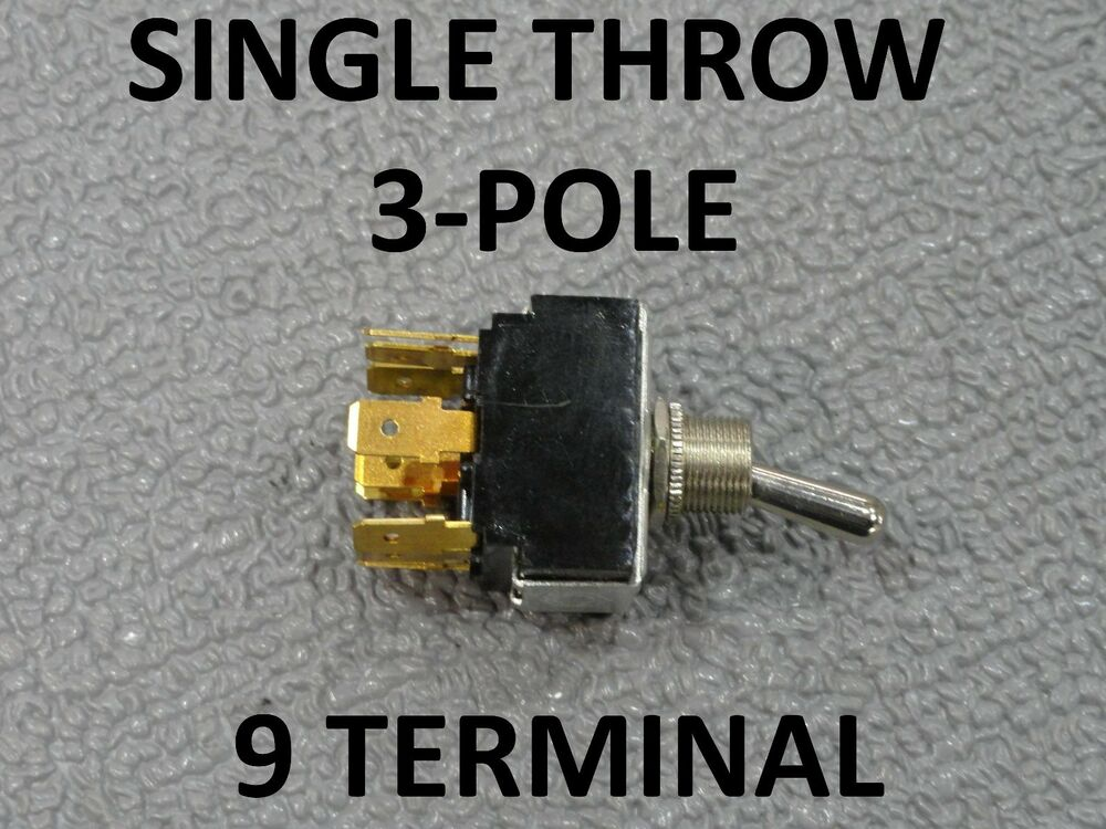 Single Throw 3 Pole Boat Master Light Control Switch 9