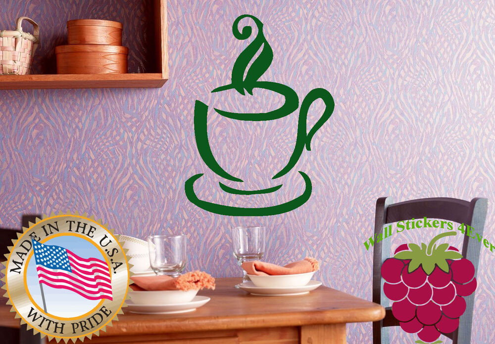 Wall Stickers Vinyl Decal Kitchen Cup Of Coffee Hot Tea Good Morning