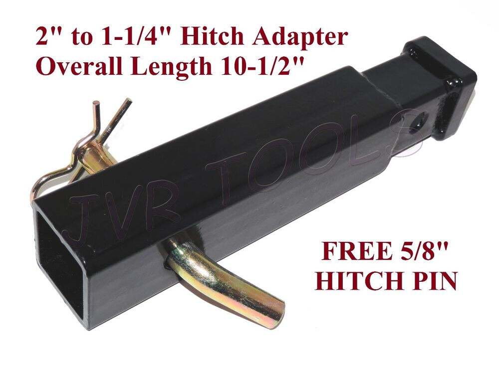 overall length 10 1 2 2 to 1 1 4 hitch trailer adapter ebay. Black Bedroom Furniture Sets. Home Design Ideas