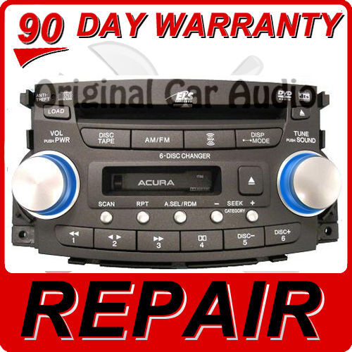 08 ACURA TL Radio Stereo 6 Disc Changer CD DVD
