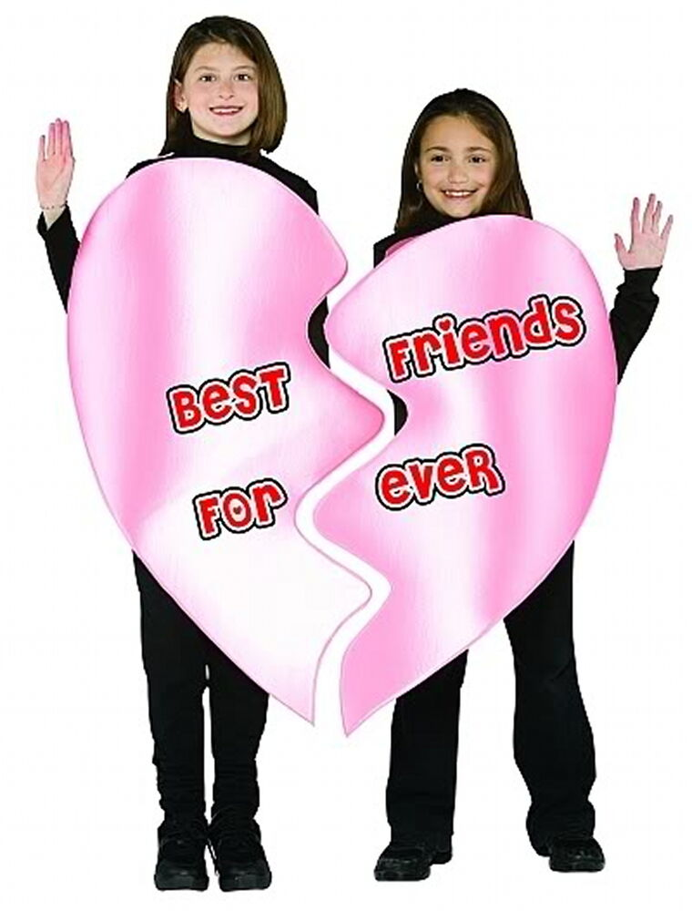 BFF BEST FRIENDS FOREVER HALLOWEEN VALENTINES DAY 2 PERSON COSTUME Size 7 - 10 | EBay