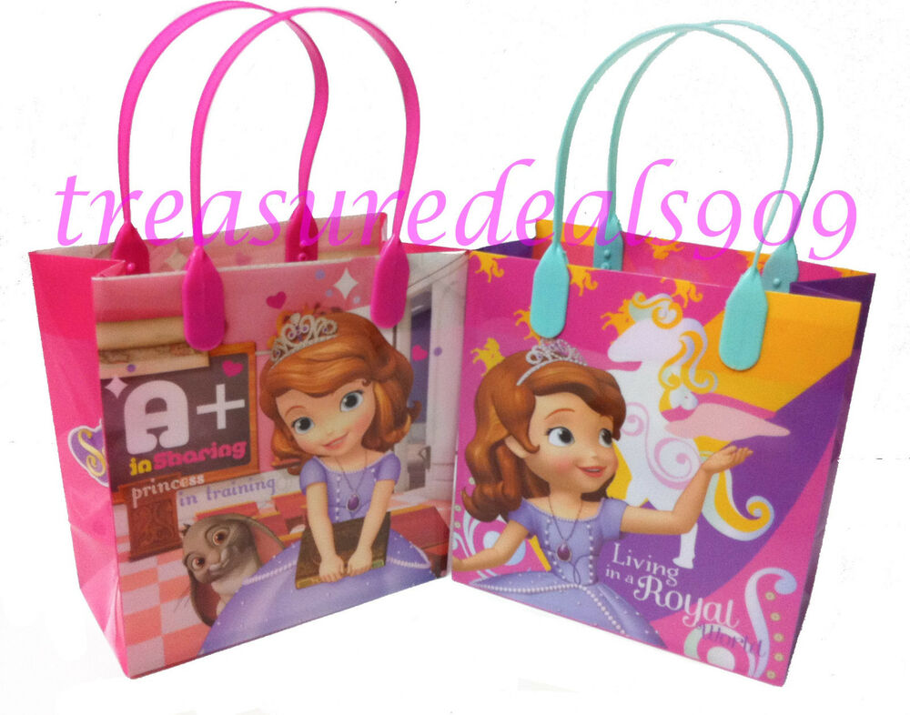disney sofia the first party favor bags 12 pcs goodie. Black Bedroom Furniture Sets. Home Design Ideas
