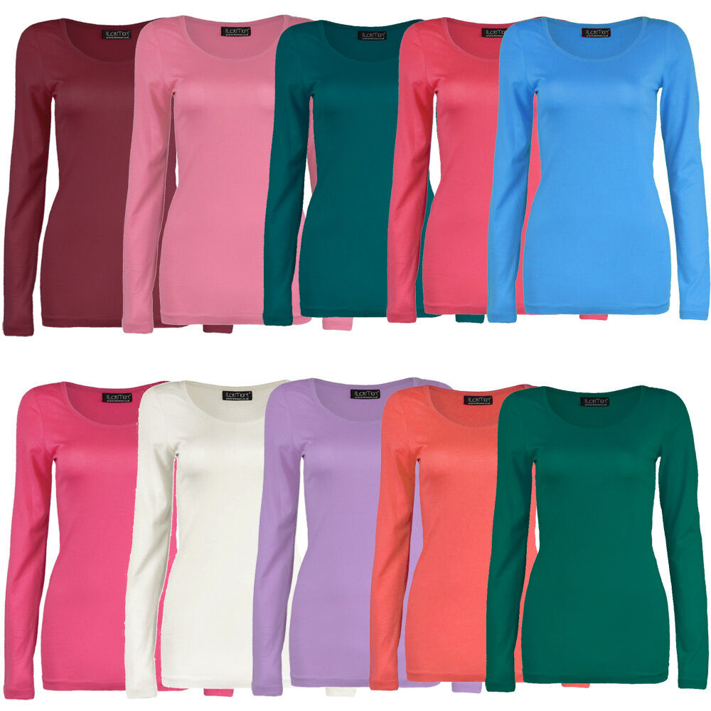 "This luxuriously soft women's cotton long sleeve shirt is made from the ""cashmere of cotton,"" and is hailed by customers for a ""just-like-new look, fit and feel"" that lasts wash after wash."