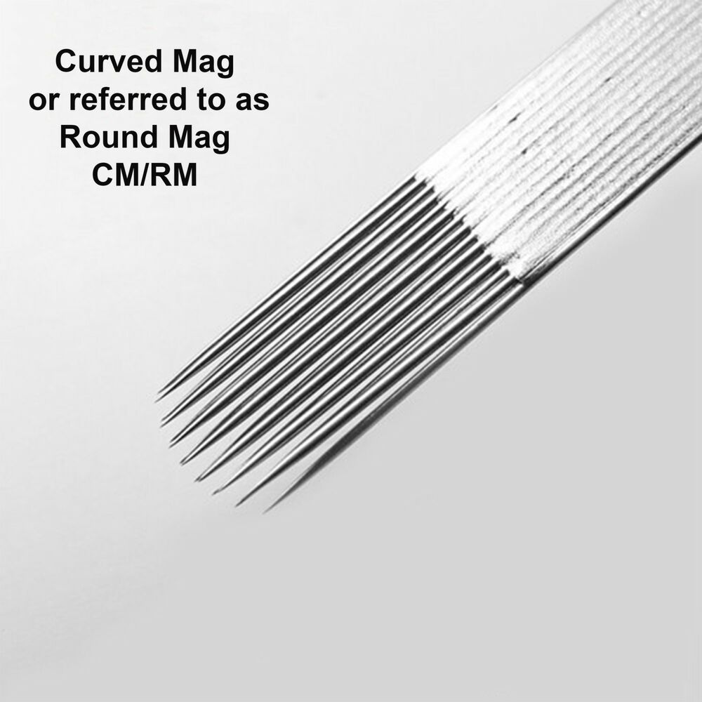50 disposable sterile tattoo curved or round flat magnum for Tattoo lining tips