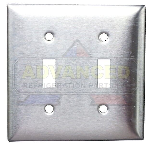 Metal Electrical Outlet Covers Oversized Outlet Covers: NEW Matte Stainless Steel Electric Wall Plate, Double