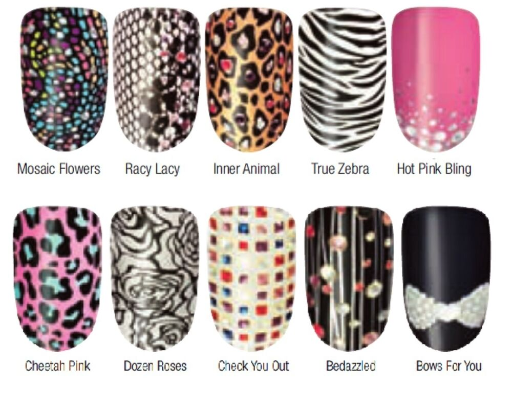 Avon nail art design strips nail wraps stickers new for Avon nail decoration brush