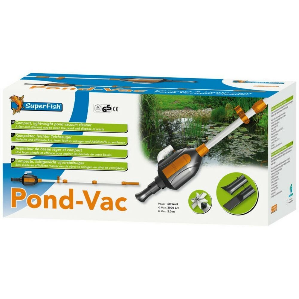 Superfish pond vac pond vacume cleaner vac hoover koi fish for Koi pond vacuum