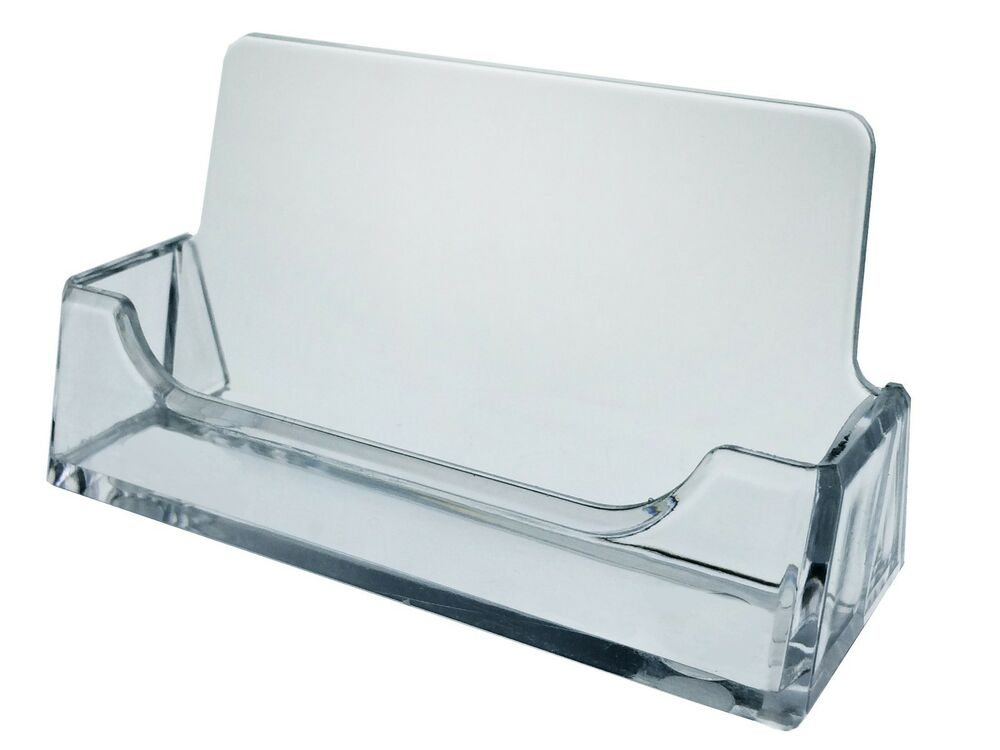 Clear Plastic Business Card Holder Display Stand Desk