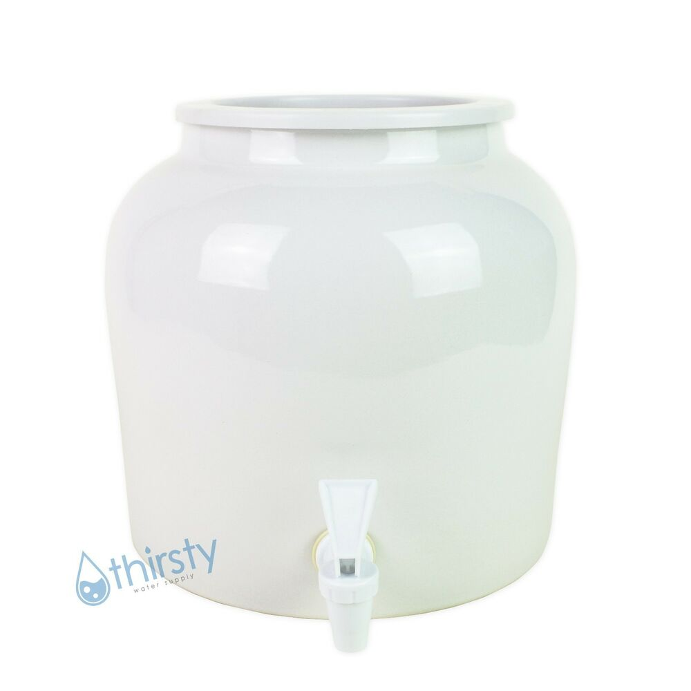 Water Crock Pot Plain White Porcelain Ceramic Vase