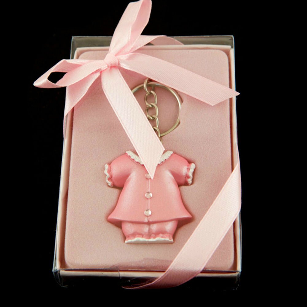 Pink Baby Shower Keepsake Pink Baby Coat Keychain Party Favor ...