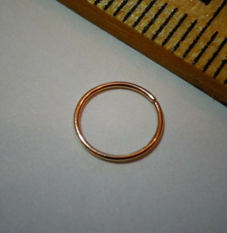 nose ring 24k solid gold 9mm small 26g hoop ear