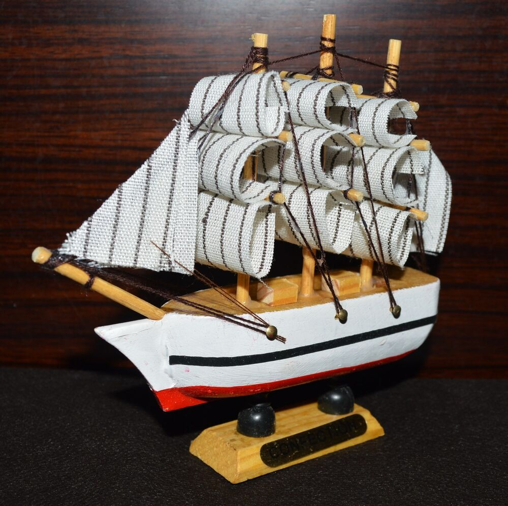 nautical home decor 4x new vintage nautical wooden wood ship sailboat boat 11738