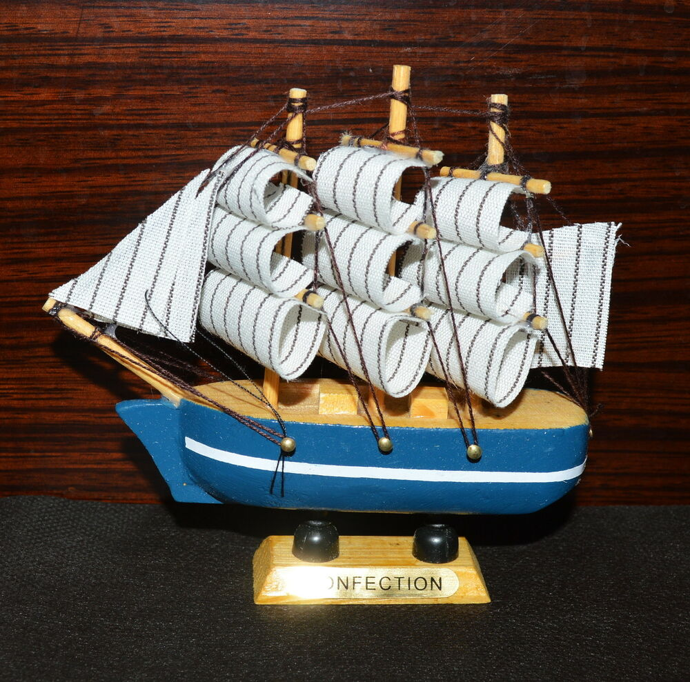Boat Home Decor: China VINTAGE Nautical Wooden Wood Ship Sailboat Boat Home